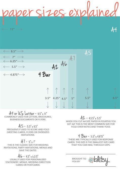 25  best ideas about Envelope size chart on Pinterest