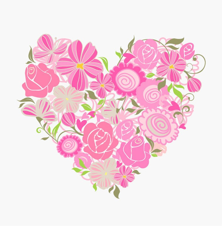 Pink Floral Heart Vector Graphic | Free Vector Graphics | All Free ...