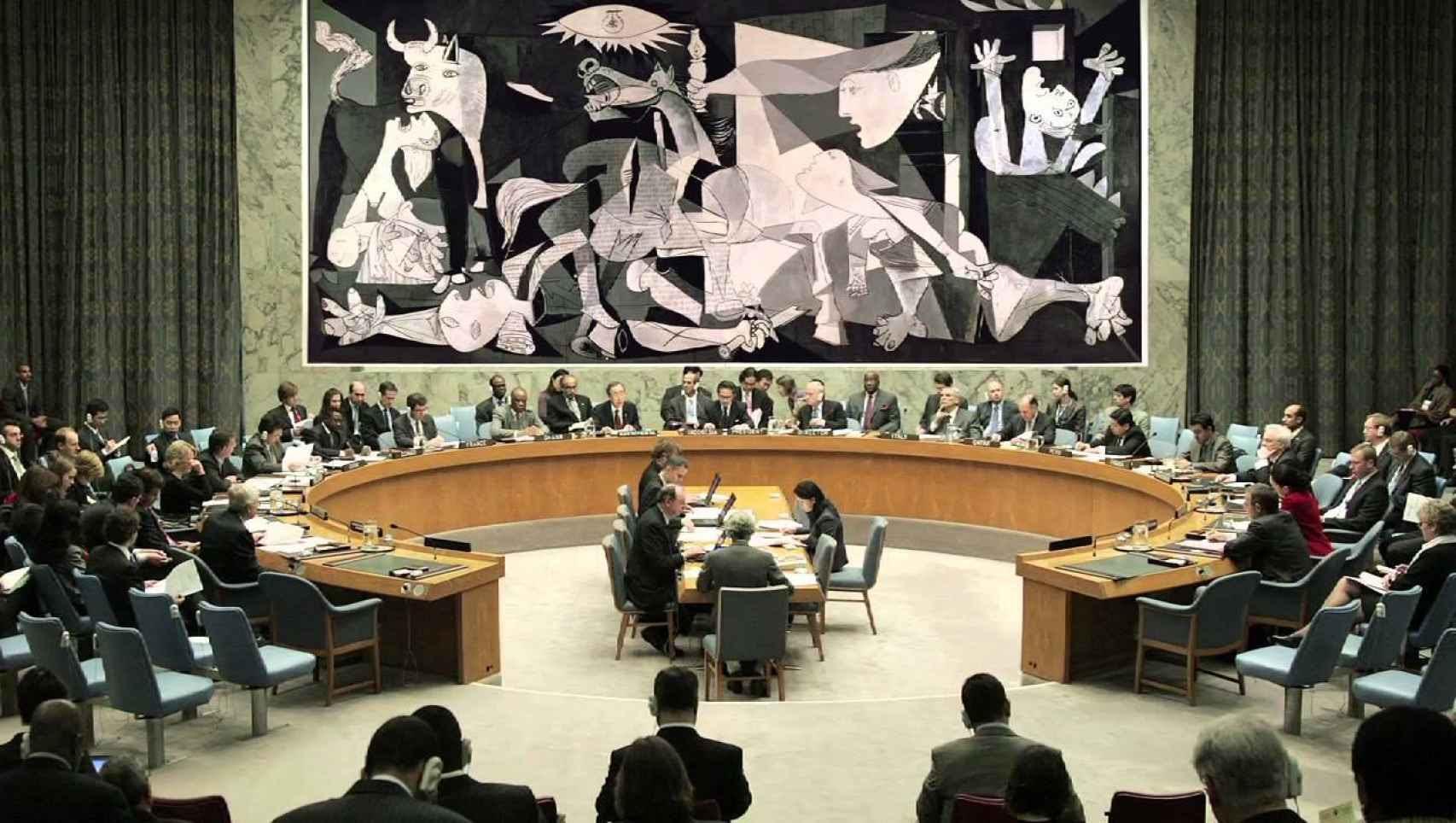 El tapiz de Guernica en la ONU.