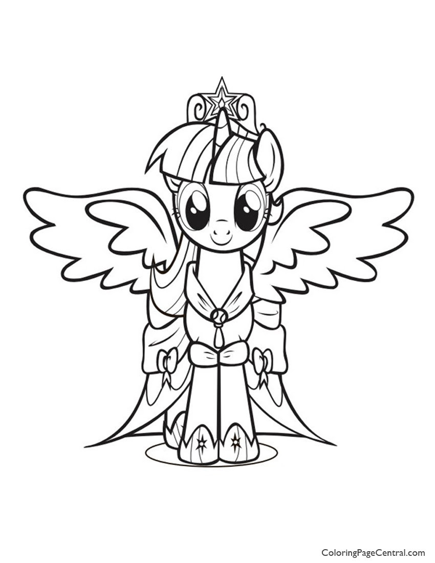 Princess Twilight Sparkle Coloring Page At Getdrawingscom Free
