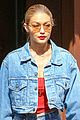 gigi hadid puts a bold spin on the denim on demin trend 04