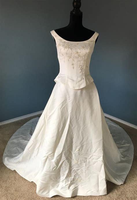 Ashley Jordan White Gown V272 Ocean (Spring 2003