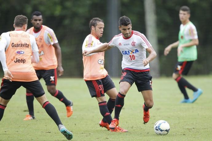 Ederson voltou a treinar com o grupo neste sábado (Foto: Gilvan de Souza / Flamengo)
