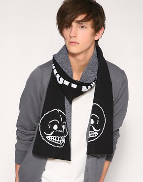 Image 1 of Cheap Monday Stefan Skull Scarf