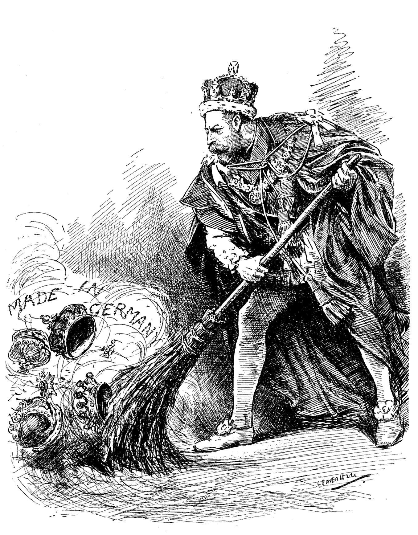King George V gets rid of the German name