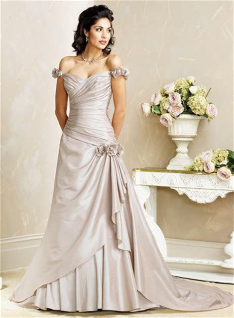 A line Off the shoulder Sweetheart Taffeta Wedding Dresses