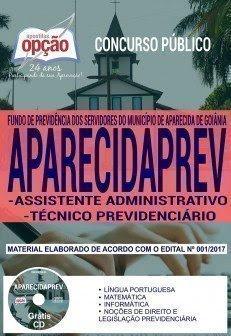 Apostila Concurso APARECIDAPREV 2018   ASSISTENTE ADMINISTRATIVO E TÉCNICO PREVIDENCIÁRIO