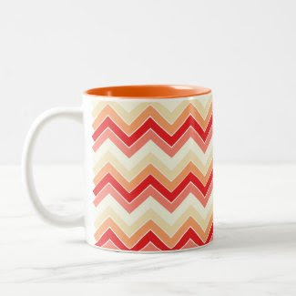 Berrylicious {chevron pattern} coffee mug