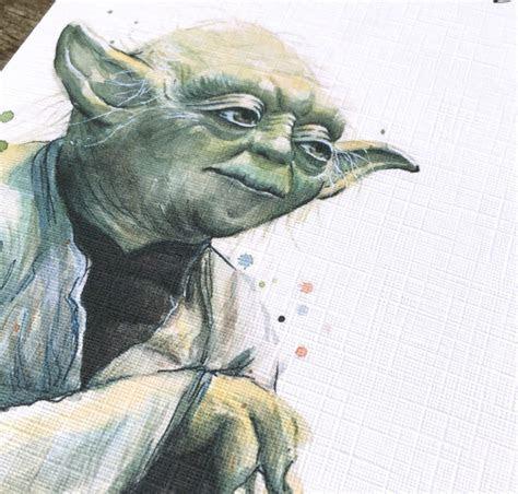 Yoda fathers day / Birthday card   Star Wars card