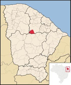 Localização de Itatira