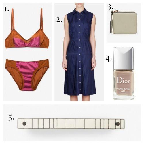 Araks Lingerie - Altuzarra Dress - The Horse Wallet - Dior Nail Polish - Dream Collective Barrette