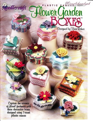 Free Craft Book Download Plastic Canvas Flower Garden