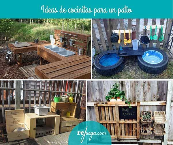 ideas de para hacer cocinitas en un patio