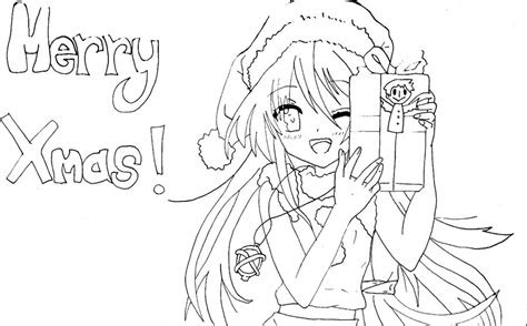 anime  day  merry christmas lineart  sammyyt
