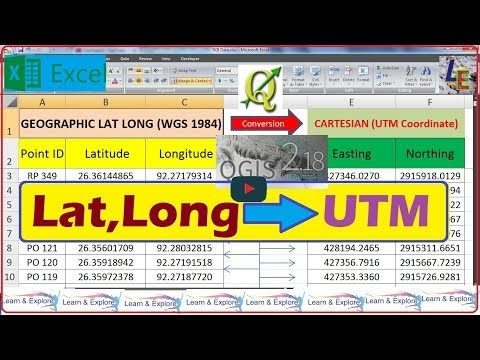 Learn & Explore: How to convert Lat, Long to UTM (Easting