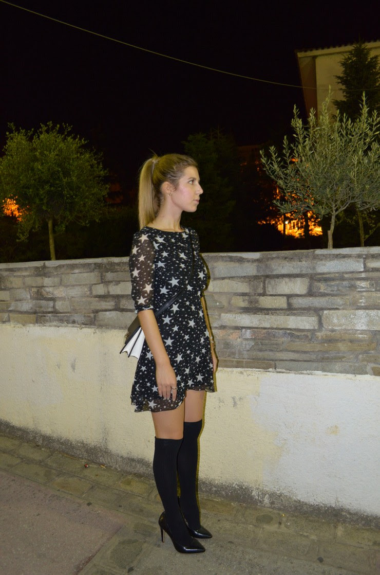 dress with stars socks with heels 2