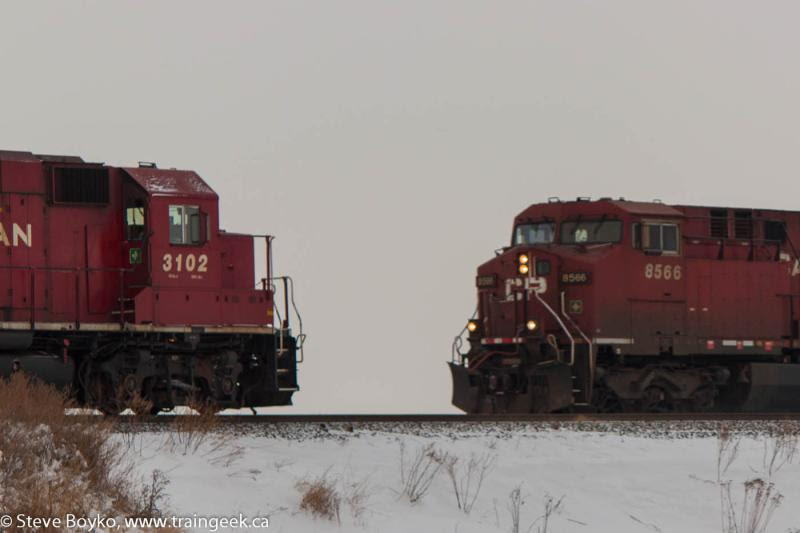 CP 3102 and CP 8566 in Carseland