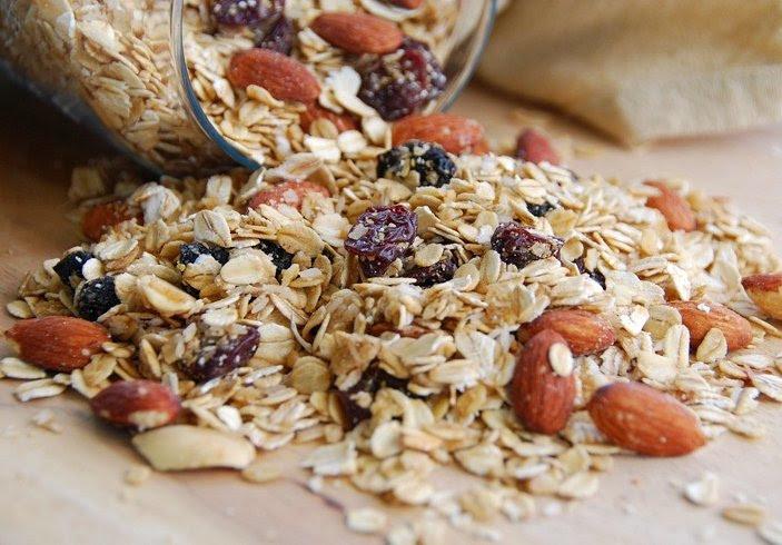 cherry, prune, and almond granola