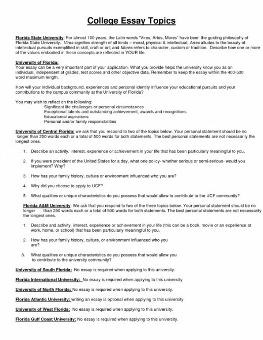sample argumentative essay topics for college students
