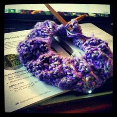 Cowl progress #knitting #knit #yarn