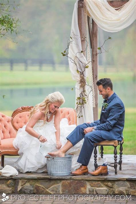 foot washing during our ceremony.   [ With this ring