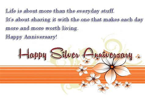 Silver Jubilee Wedding Anniversary Quotes:25th Anniversary