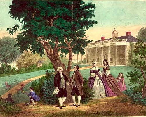 George Washington and Lafayette