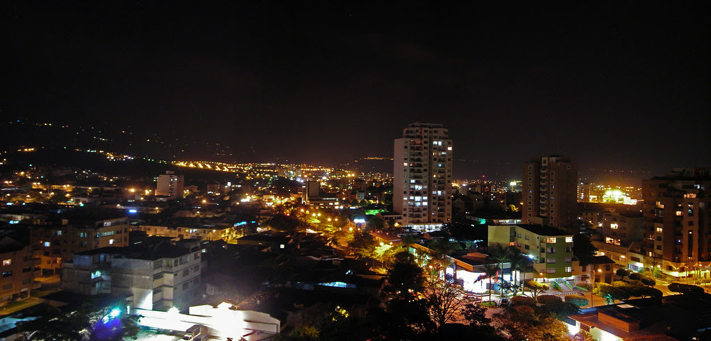 Panorama  Bucaramanga by night, Santander, Colombia