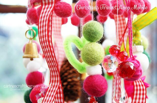 Christmas Trinket Hoop Mobile