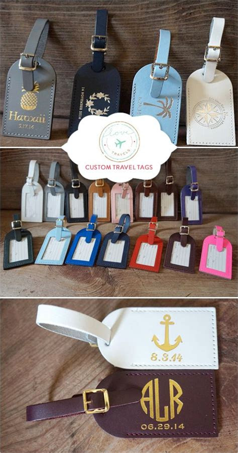 printed luggage tags wedding
