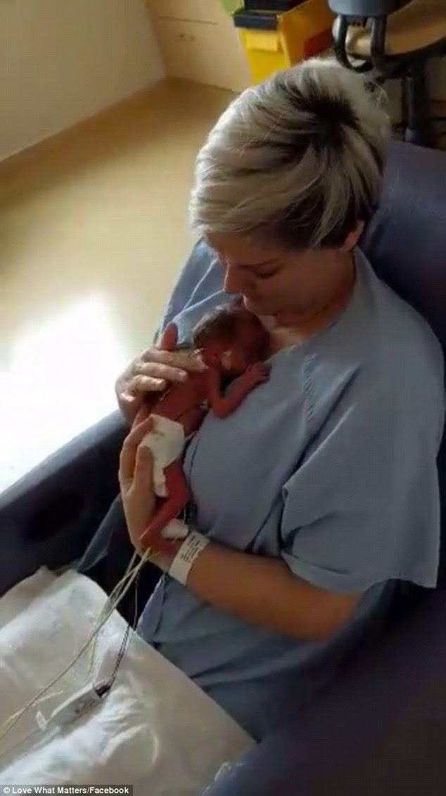 Touching moment: A video has been shared on Facebook by the internet group, Love What Matters