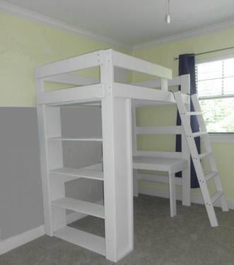 Used TROMS\u00d6, IKEA Twin Size Loft Bunk Bed w\/ Desk Top for Sale in Fort Worth, Texas Classified