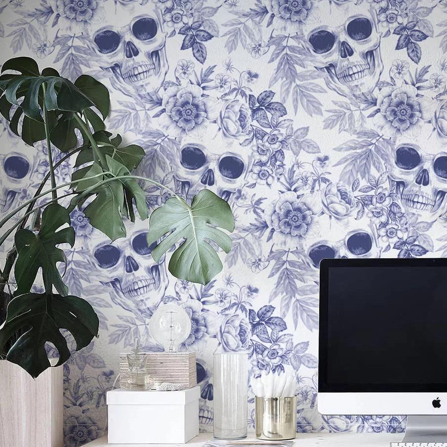 Skulls Flowers Wallpaper Sugar Skull Culture