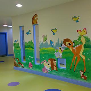 çocuk Bakım ünitesi Duvar Resmi Boyama örnekleri Duvar Resmi