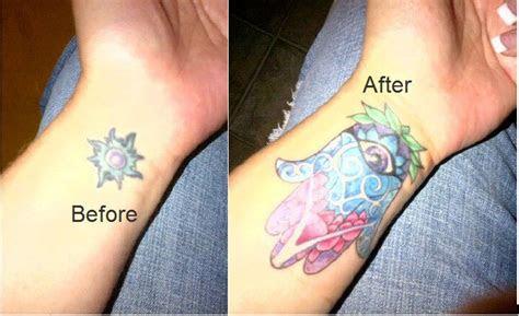 cover sun hamsa tattoo hamsa