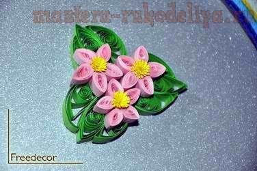 Мастер-класс по квиллингу: Цветочный магнит на холодильник