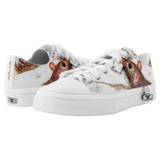 Mailbox Molly Pet Rat Lace-up Sneakers Printed Shoes