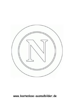 SSC Neapel - Vereinswappen-Fussball ausmalen | Malvorlagen ...