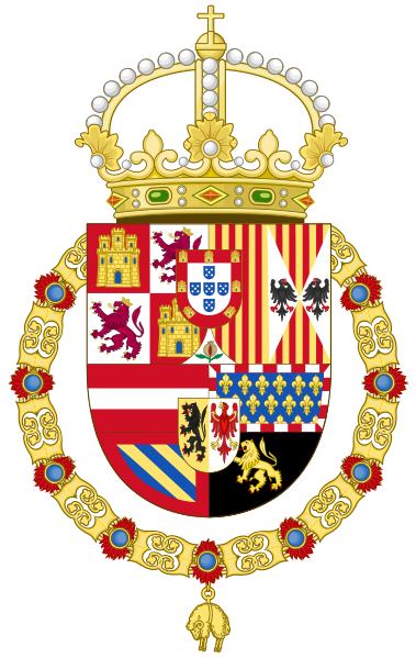 Ficheiro:Royal Coat of Arms of Spain (1580-1668).svg