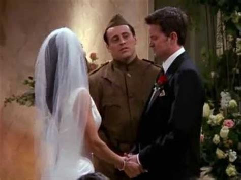FRIENDS   Monica and Chandler's Wedding Ceremony   YouTube