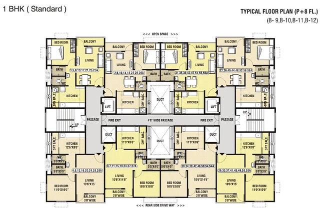 Dwarka-Chakan-1BHK Flat-Standard-B12
