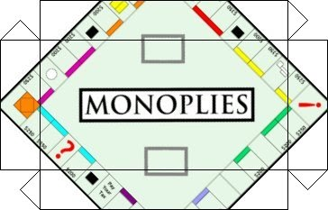 Noni S Crafts Monopoly Game Board For Dolls