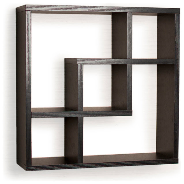 White Square Wall Shelves (13 Image)   Wall Shelves
