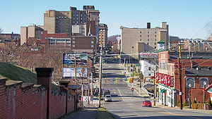 Clarksburg, West Virginia as viewed from the e...