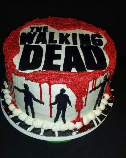 Walking dead cake   Adult B Day Cakes   Walking dead cake