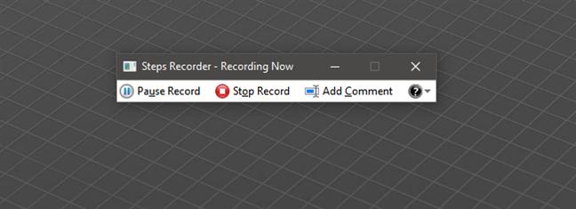 Grabación de pasos en Windows 10 con Steps Recorder