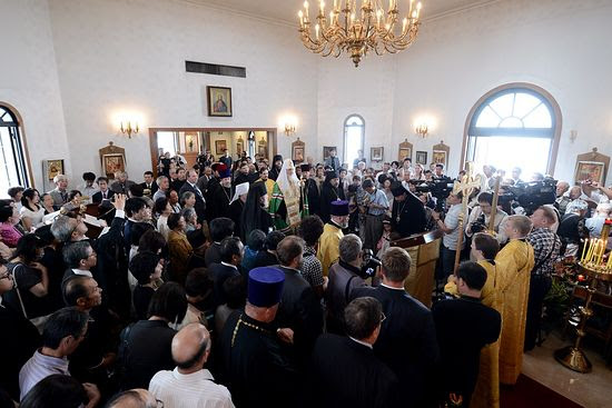The visit of His Holiness Patriarch Kirill to the Cathedral Church of Sendai Eparchy, September 15, 2012.