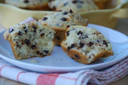 chocolate orange muffin halves