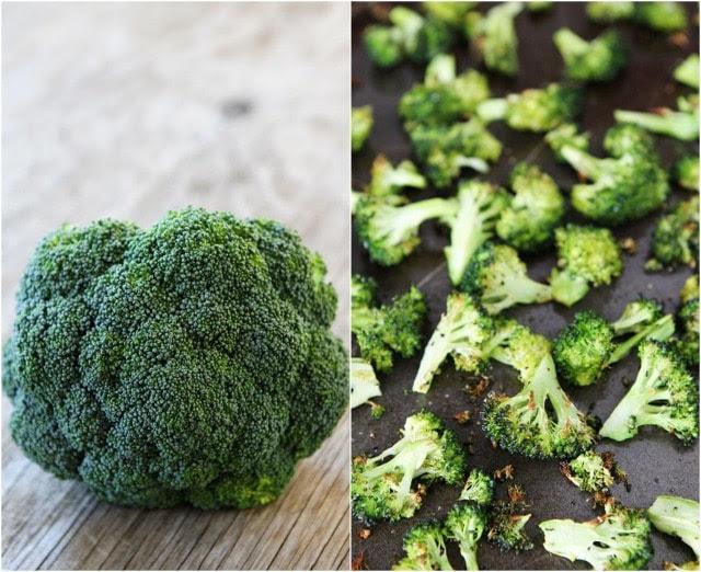 Brócoli asado a la parrilla Receta Queso en twopeasandtheirpod.com #recipe
