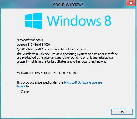 windows 8 rp expiration date